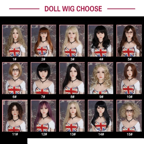 sex doll wig options