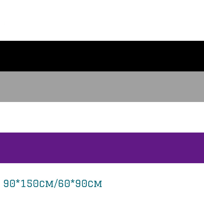 Asexuality Nonsexuality Flag 3X5ft Polyester Banner Flying 150*90cm 60*90cm LGBT Flags