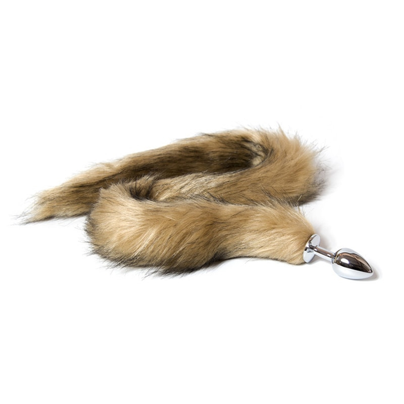 Sweet Dream Adult Artificial 70cm Long Fox Tail Butt Plug Animal Tail Metal Anal Sex Toys Role Play Sex Toys For Woman DW-010