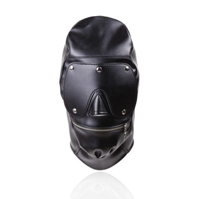 Blindfold Fetish | Leather Bondage Mask