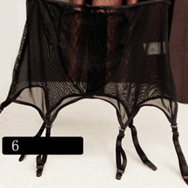 Women Sexy Lingerie high waist Lace stocking Belt