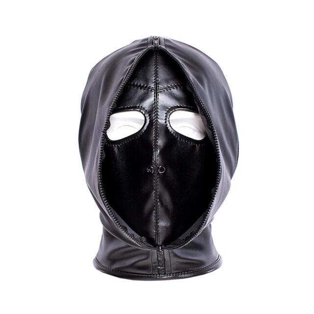 Sex Hood   Leather Zipper Mask