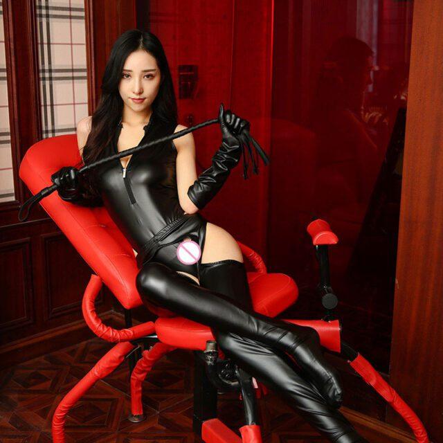 BDSM Clothing   Leather Harness Bra