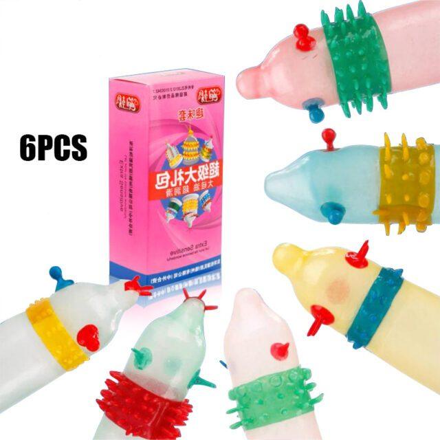 Rubbers Condoms   Dotted Condom   5Pcs