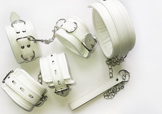 Whip And Handcuffs | Self Bondage Kit