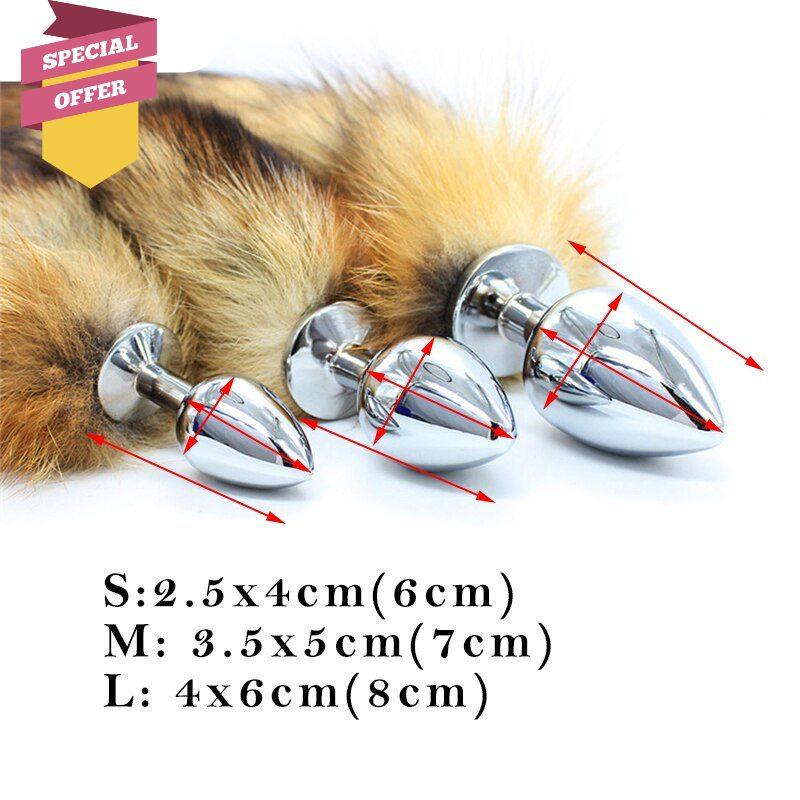 Fox Tail Plug | 70cm Long Fox Tail